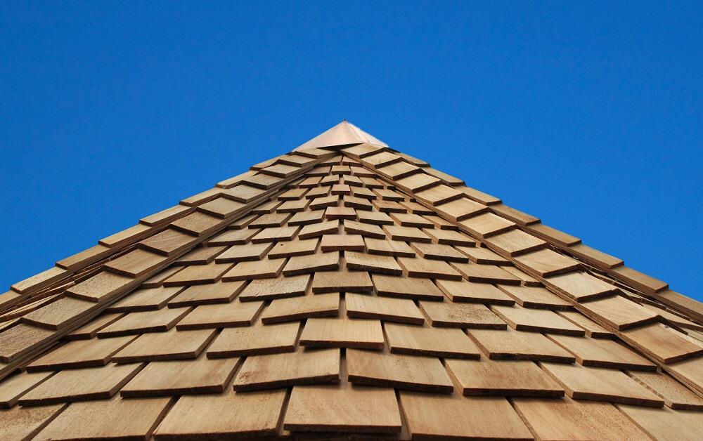 dach z drewna